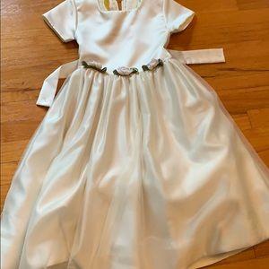 Cream formal girls dress